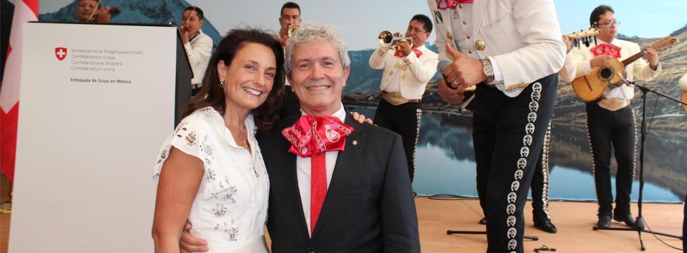 Celebración de la fiesta nacional suiza y despedida del Embajador Touron