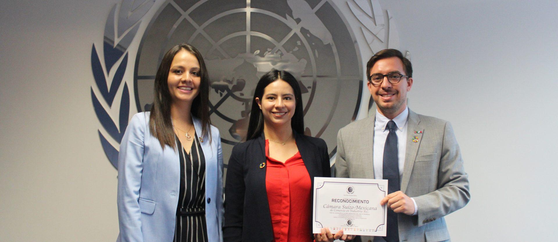Firma de adhesión a la red mexicana del Pacto Mundial de la ONU