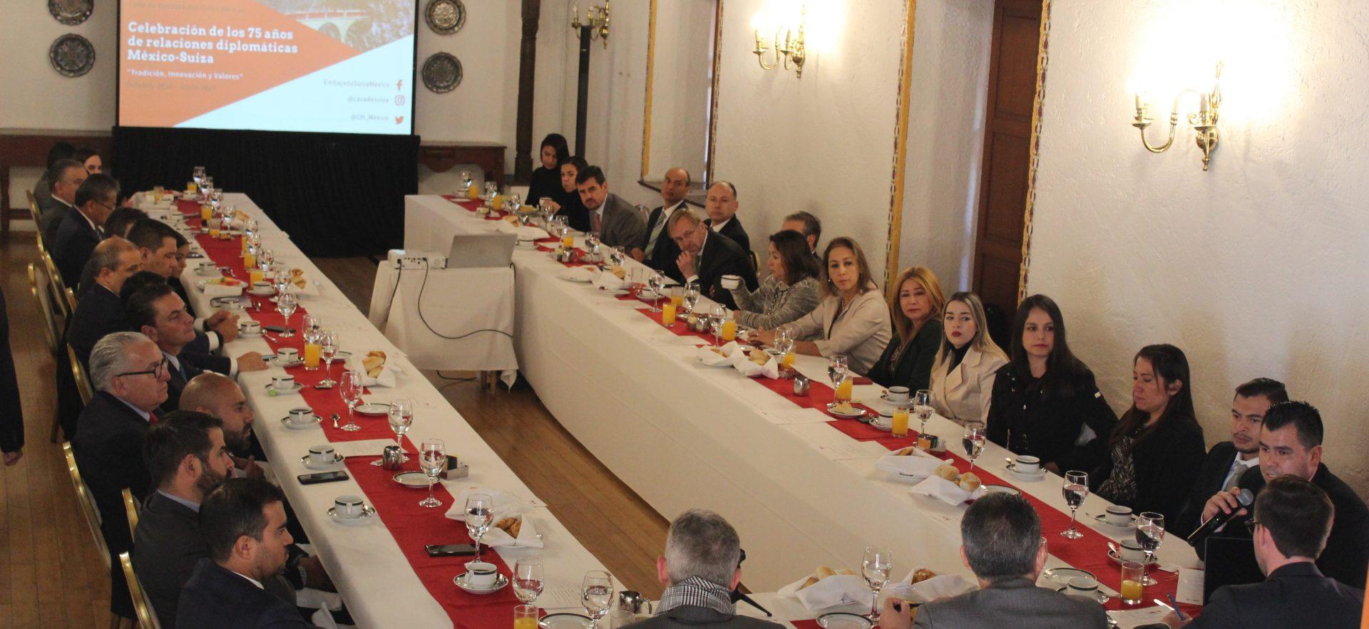 Breakfast 75° Anniversary of Diplomatic Relations Mexico-Switzerland