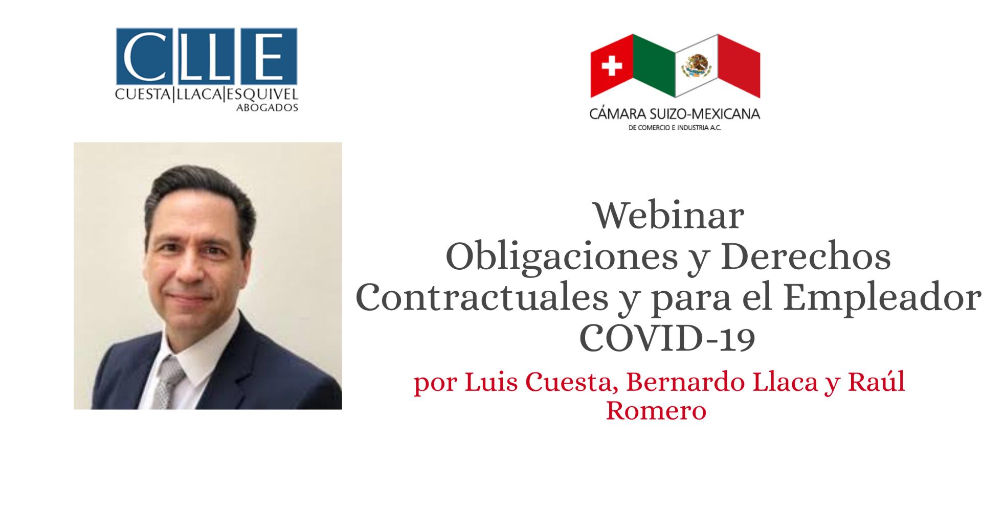 Webinar Obligaciones y Derechos Contractuales y del Empleador durante COVID-19