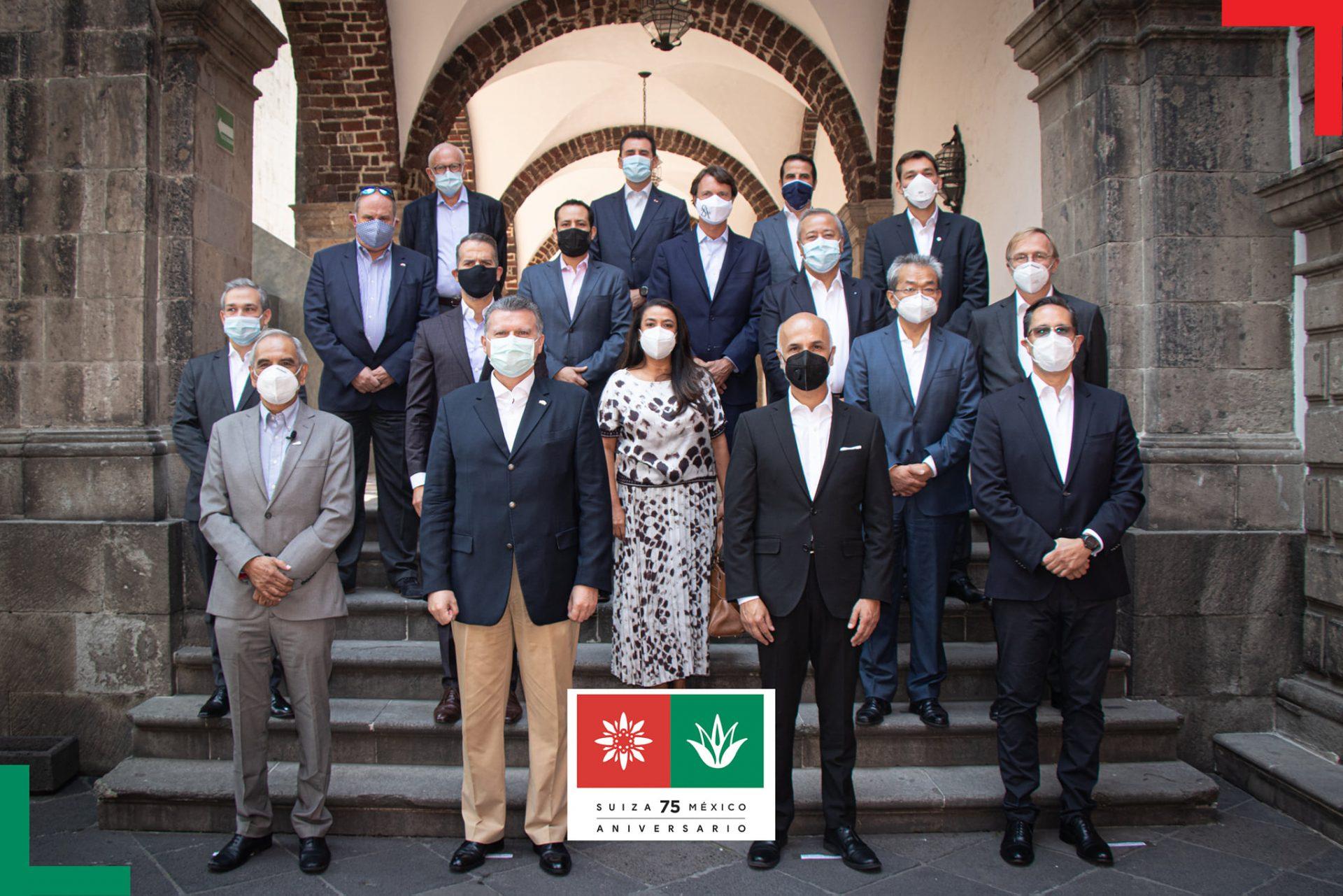 Inicio del 75º aniversario Suiza-México y exposición de carteles